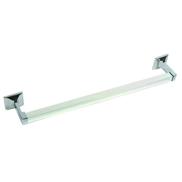 "3/4"" x 18"" Chrome Towel Bar, Square Style with Concealed Screw"