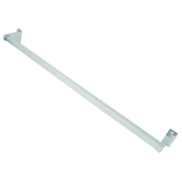 "5/8"" x 24"" Brushed Nickel Towel Bar, Tower Style with Exposed Screw"