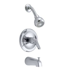 Chrome Plated Single Handle Tub/Shower Faucet
