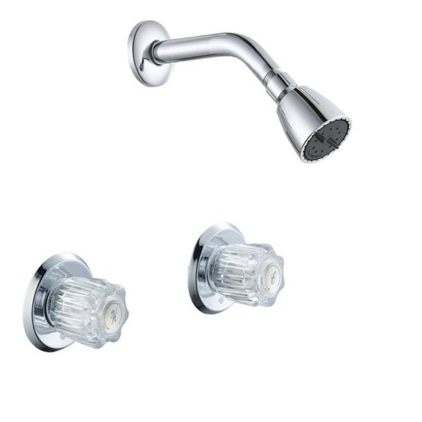 Chrome Plated Two Handle Shower Faucet