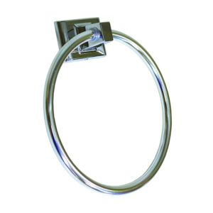 Chrome Towel Ring, Square Style with Concealed Screw
