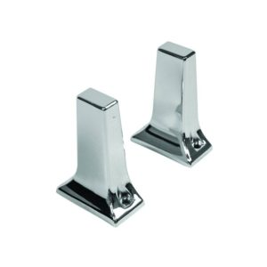 "3/4"" Chrome Towel Bar Brackets, Tower Style with Exposed Screw, 1 Pair"