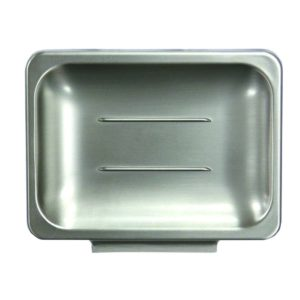Satin Nickel Soap Dish, Tower Style with Exposed Screw