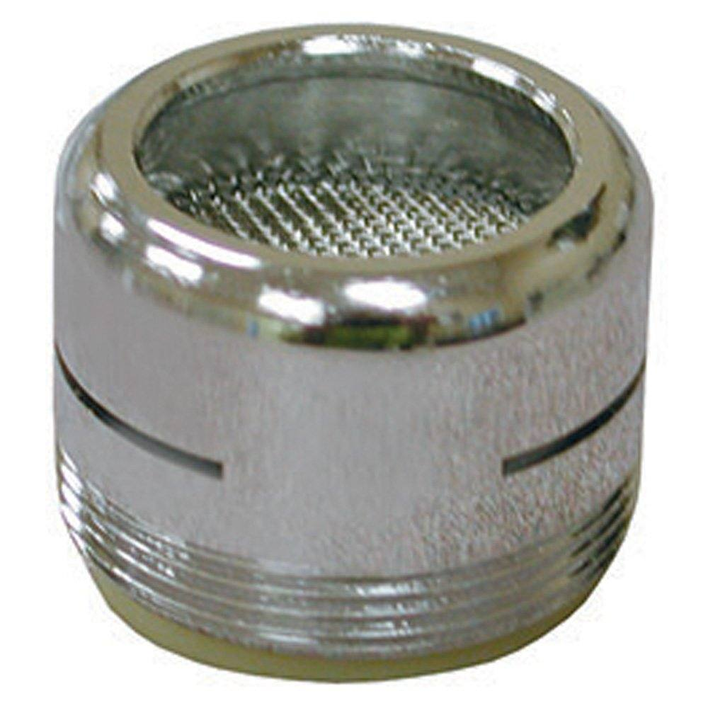 """Chrome Plated Dual Thread 15/16""""-27 Male x 55/64""""-27 Female Slotted Full Flow Aerator"""