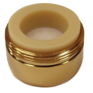 Polished Brass Non-Slotted Full Flow Aerator with Dual Threads