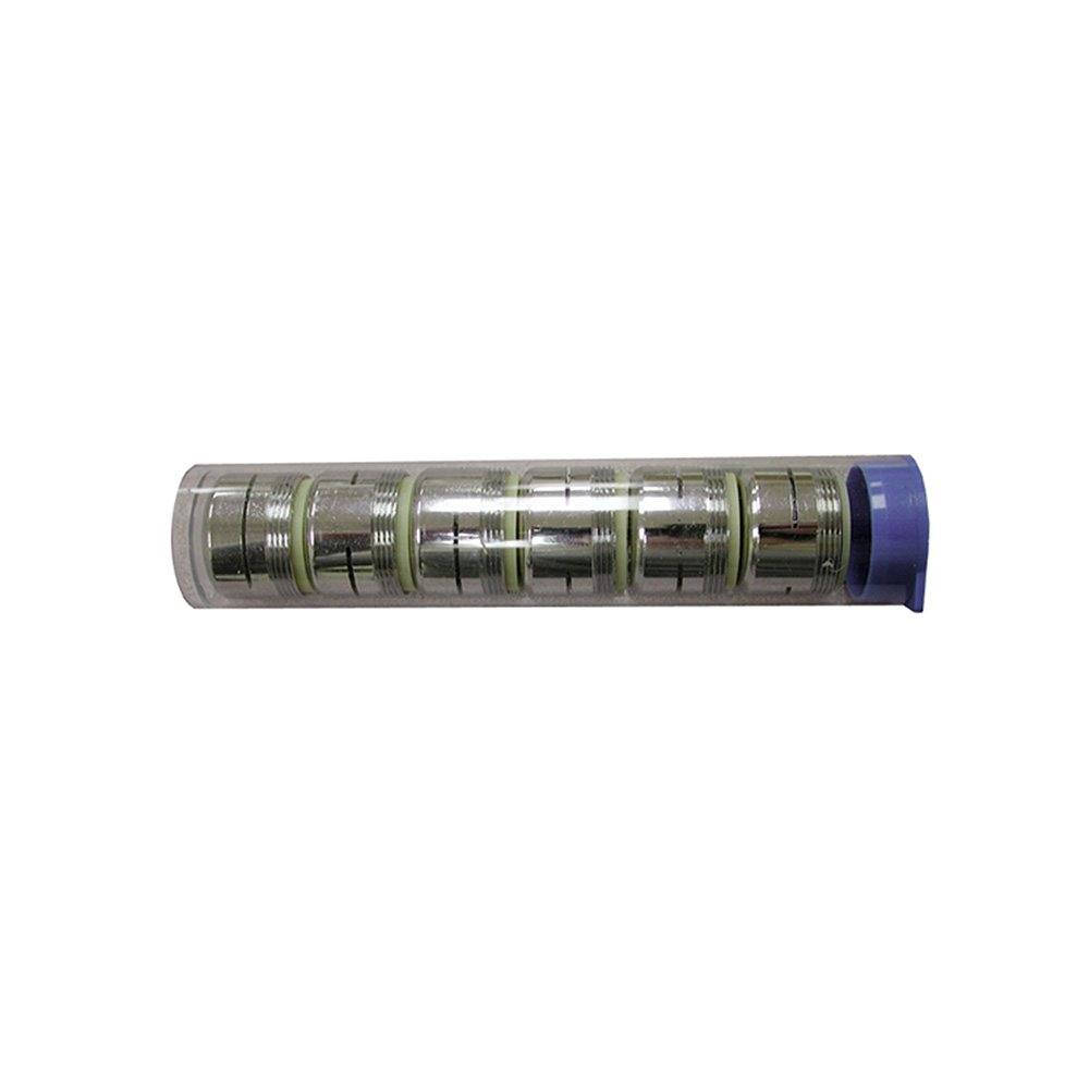 Dual Thread Non-Slotted Full Flow Aerator, Tube of 6 for Counter Display