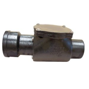 """6"""" Service Weight Cast Iron Backwater Valve - 12-3/4"""" Length and 7-1/4"""" Hub"""