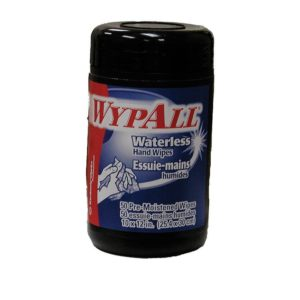 Wypall Waterless Hand Wipes, 50 Count Dispenser Tub, 8 Tubs per Carton