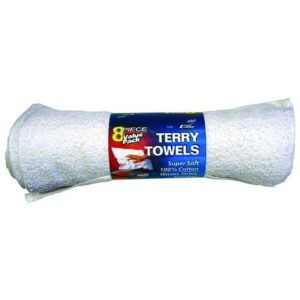 Cotton Terry Cloth Towels, 8 pack