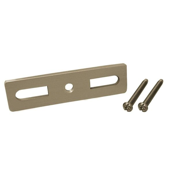 Aluminum Bar with 2 Screws for Waste and Overflow