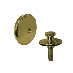 Polished Brass PVD One-Hole Faceplate Trim Kit with Lift and Turn Stopper