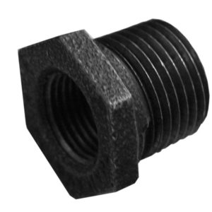 "1-1/2"" x 1 1/4"" Hex Bushing Black"