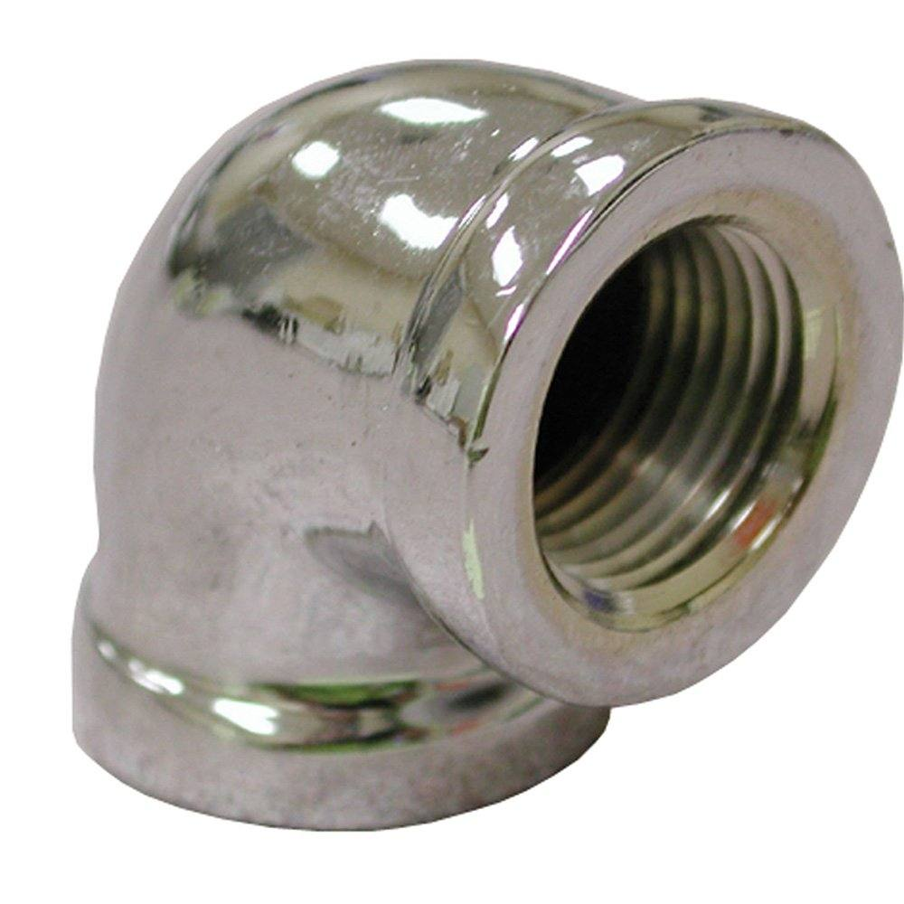 """1/2"""" 90 Chrome Plated Bronze Elbow, Lead Free"""