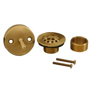 Brushed Bronze Two-Hole Trip Lever Conversion Kit