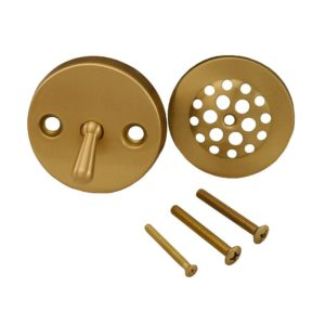 Brushed Bronze Two-Hole Trip Lever Trim Only