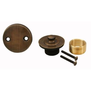 Antique Brass Two-Hole Lift and Turn Conversion Kit