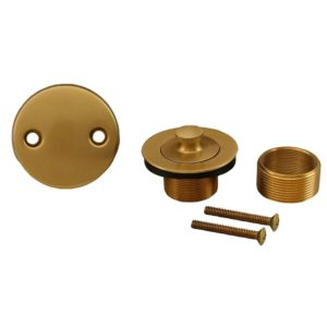 Brushed Bronze Two-Hole Lift and Turn Conversion Kit