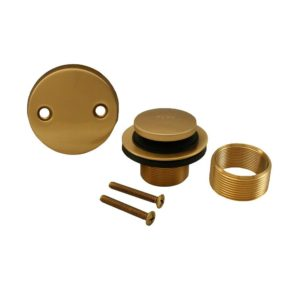 Brushed Bronze Two-Hole Toe Touch Conversion Kit