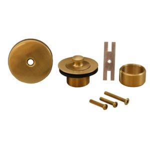 Brushed Bronze One-Hole Lift and Turn Conversion Kit