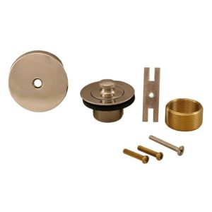 Polished Stainless One-Hole Lift and Turn Conversion Kit