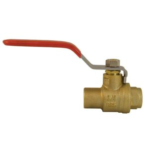 "1-1/2"" Brass Ball Valve, Sweat"