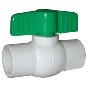"1-1/4"" PVC Ball Valve, Solvent Ends"
