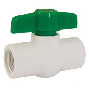 "1-1/4"" PVC Ball Valve, Threaded Ends"