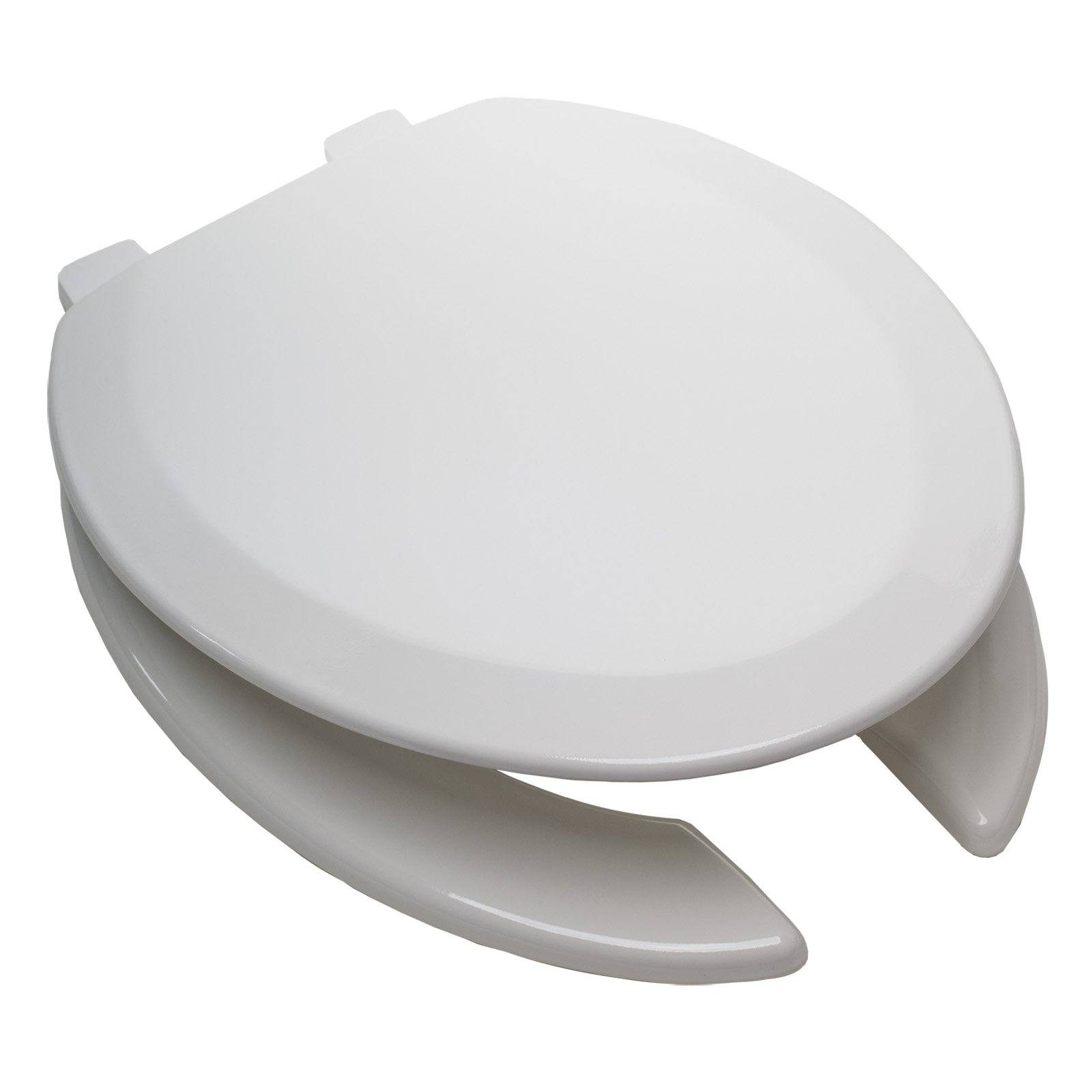 Tremendous Deluxe Molded Wood Toilet Seat White Elongated Open Front With Cover Pabps2019 Chair Design Images Pabps2019Com