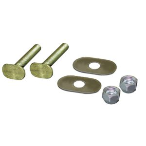 """50 Pairs of 5/16"""" x 2-1/4"""" Brass Plated Closet Bolts with Zinc Plated Oval Washers and Acorn Nuts, Bagged in Pairs"""