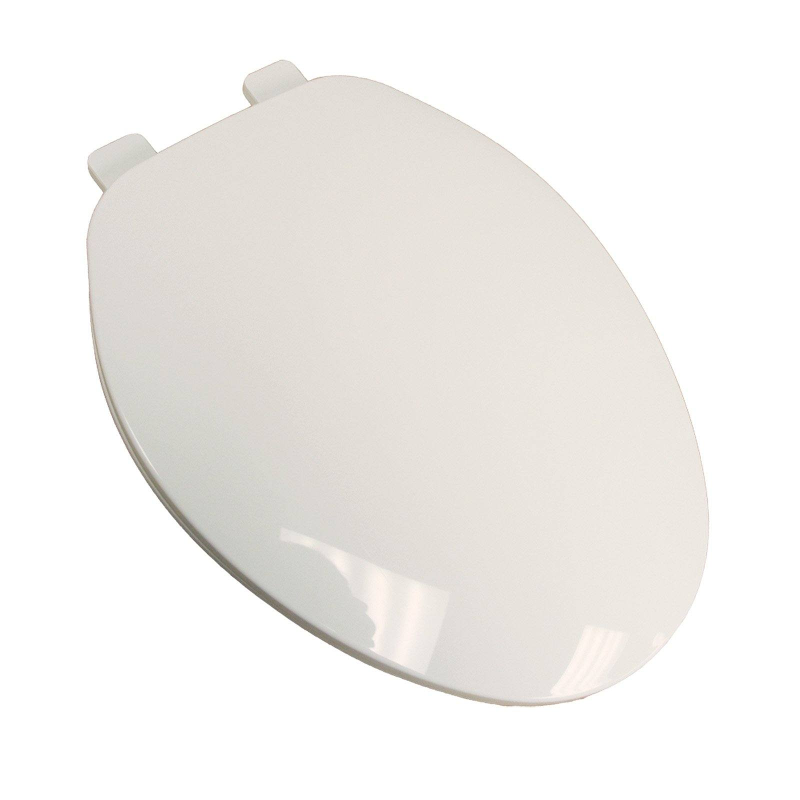 Builder Grade Plastic Toilet Seat, White, Elongated Closed Front with Cover