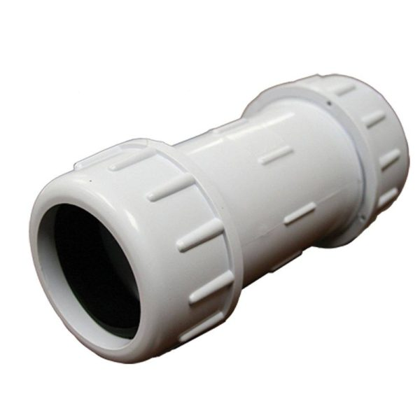 """6"""" IPS PVC Compression Coupling, 11-1/8"""" Body Length"""
