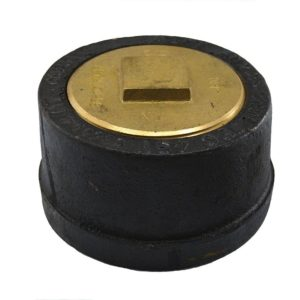 """6"""" Service Weight Push-On Cleanout with Gasket with Raised Head Plug - 3"""" Height"""