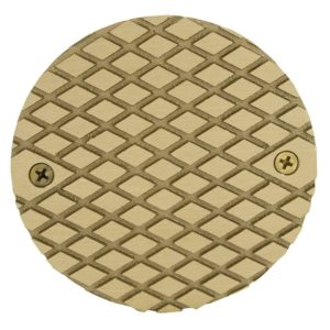 "5"" Polished Brass Round Cast Cleanout Cover"