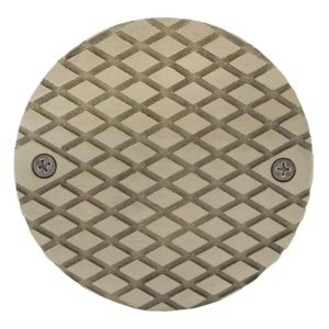 "4"" Nickel Bronze Round Cast Cleanout Cover"