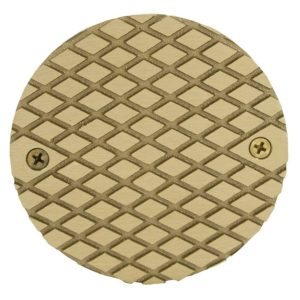 """4"""" Polished Brass Cast Cleanout Cover"""