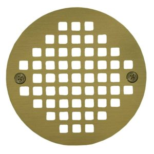 "5"" Polished Brass Round Cast Coverall Strainer"