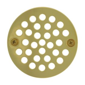 """4"""" Polished Brass (PVD) Round Coverall Strainer"""