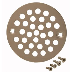 """Polished Stainless 4-1/4"""" Round Stamped Strainer"""