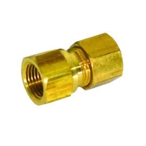 "3/8"" x 3/8"" Brass Compression x Female Connector, Lead Free"