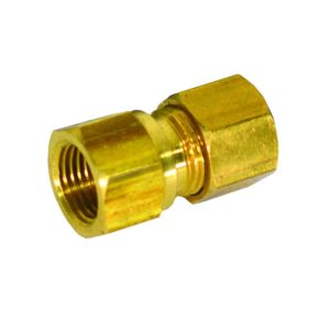 "5/8"" x 1/2"" Brass Compression x Female Connector, Lead Free"