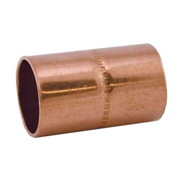 "2"" Coupling (Socket) Wrot/ACR Solder Joint with Rolled Tube Stop"