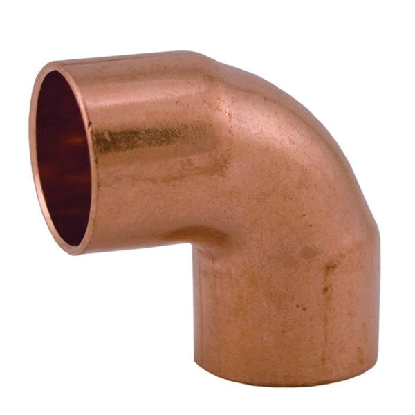 "1/2"" 90 Short Turn Wrot/ACR Solder Joint Copper Elbow"
