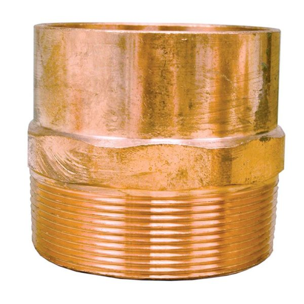 """2"""" x 1-1/4"""" Wrot/ACR Solder Joint Copper Male Adapter"""