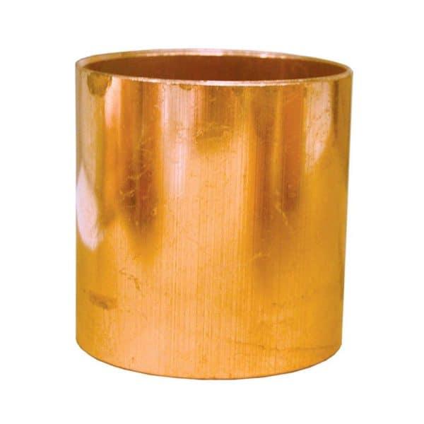 "1"" Wrot/ACR Solder Joint Copper Coupling (Socket) Less Tube Stop"
