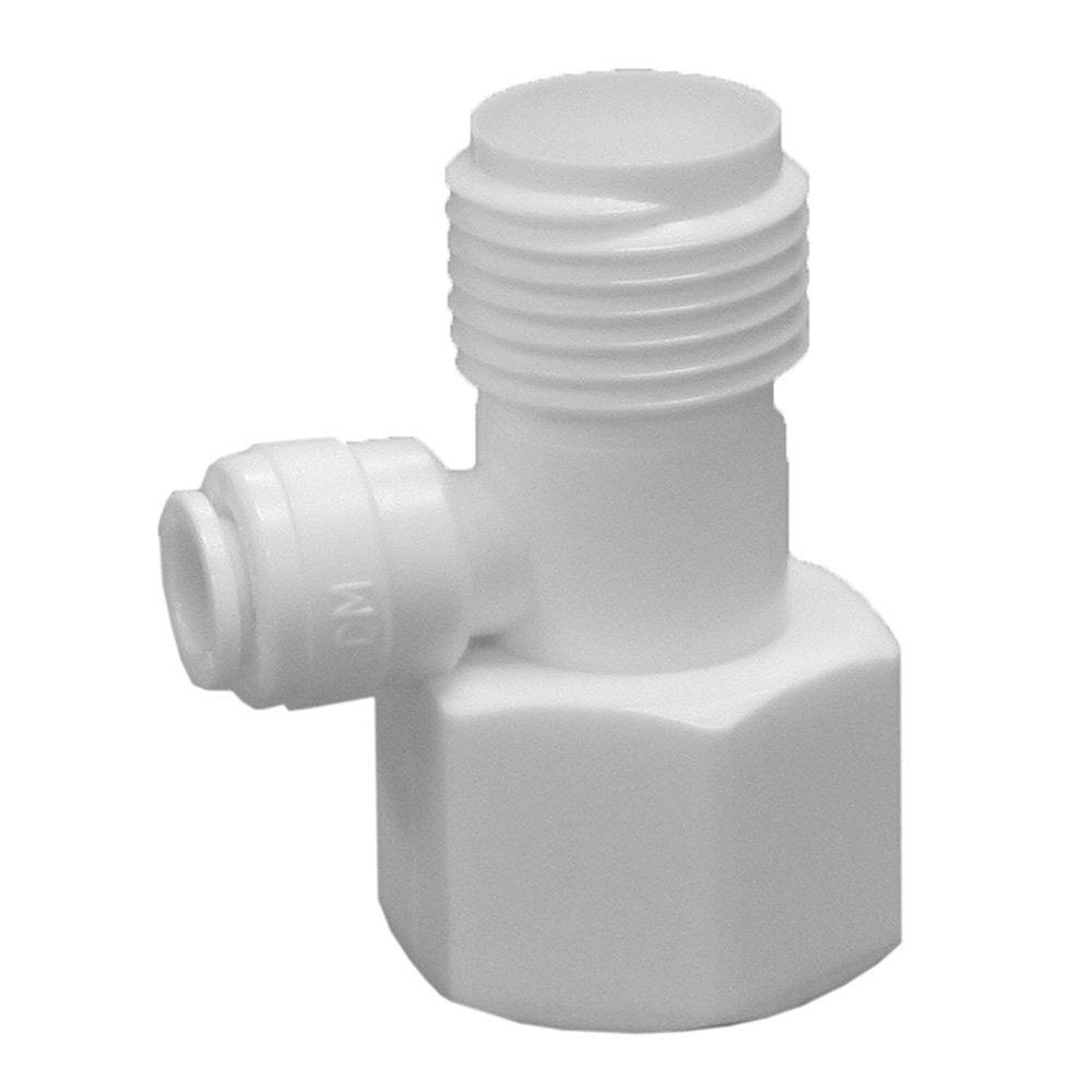 """1/2"""" x 1/2"""" x 3/8"""" Plastic Push On Kitchen Faucet Adapter Tee"""