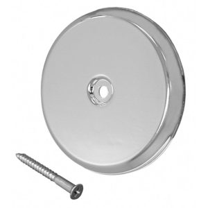 """4-1/4"""" Chrome High Impact Plastic Cleanout Cover Plate, Flat Design"""