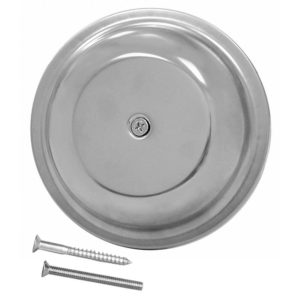 "4"" Stainless Steel Dome Cover Plate"