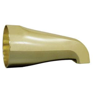 "Polished Brass 1/2"" FIP Tub Spout with Nose Connection"