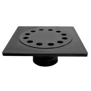 "9"" x 9"" ABS Bell Trap with 4"" Hub Fit Outlet"