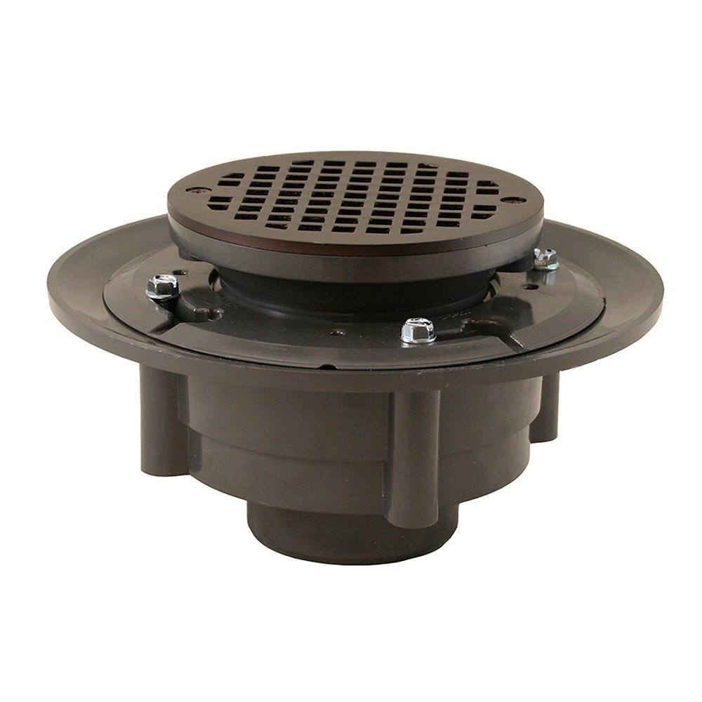 Oil Rubbed Bronze Shower Drain.Oil Rubbed Bronze 2 X 3 Heavy Duty Shower Drain With 3 1 2 Spud And 5 Round Strainer